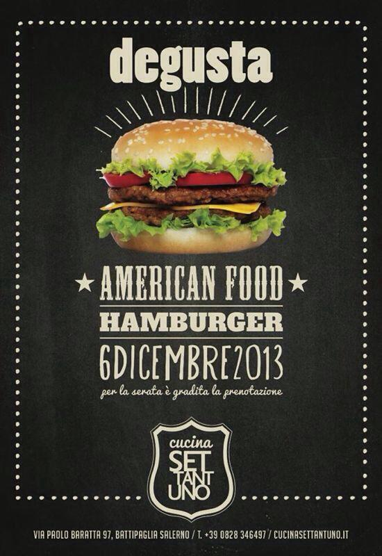 American Food – Hamburger Party
